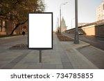 blank street billboard poster... | Shutterstock . vector #734785855