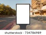 blank street billboard poster... | Shutterstock . vector #734786989