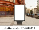 blank street billboard poster... | Shutterstock . vector #734789851