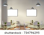 two blank horizontal posters... | Shutterstock . vector #734796295
