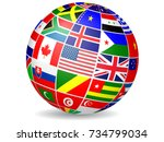 Floating Globe Covered With...