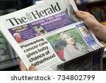 west calder  scotland  uk. 7... | Shutterstock . vector #734802799