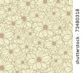 seamless pattern with daisies ... | Shutterstock .eps vector #73480318