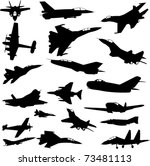 military airplanes collection   ... | Shutterstock .eps vector #73481113