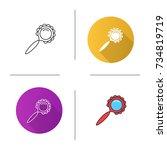 rattle icon. flat design ... | Shutterstock .eps vector #734819719