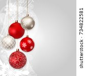 merry christmas and new year... | Shutterstock .eps vector #734822581