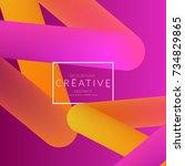abstract 3d liquid fluid color... | Shutterstock .eps vector #734829865