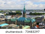 aerial view of hamburg city hall | Shutterstock . vector #73483297