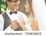 pre wedding couple   beautiful... | Shutterstock . vector #734833825