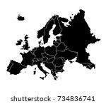 europa map vector illustration