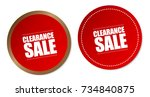 clearance sale stickers | Shutterstock .eps vector #734840875