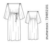 summer dress | Shutterstock .eps vector #734852101