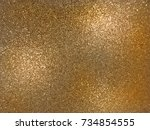 golden shiny and sparkling... | Shutterstock . vector #734854555