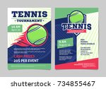 tennis tournament posters with... | Shutterstock .eps vector #734855467