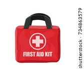 first aid kit. cloth bag for...   Shutterstock .eps vector #734863579