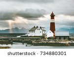 norway landscape tranoy... | Shutterstock . vector #734880301