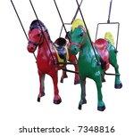 Two Merry Go Round Horses