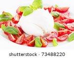 tomato mozzarella | Shutterstock . vector #73488220