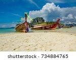 krabi  thailand   january 3 ...   Shutterstock . vector #734884765