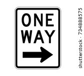 vector one way sign icon  right ... | Shutterstock .eps vector #734888575