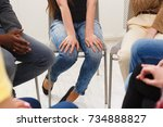 trust circle. company of... | Shutterstock . vector #734888827