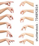 taking  measuring. set of... | Shutterstock . vector #734892814