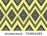 geometric ethnic pattern design ... | Shutterstock .eps vector #734896285