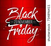 abstract vector black friday... | Shutterstock .eps vector #734896411