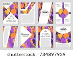 abstract vector layout... | Shutterstock .eps vector #734897929