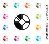 isolated report icon. segment... | Shutterstock .eps vector #734900815
