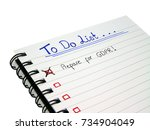 to do list   prepare for... | Shutterstock . vector #734904049