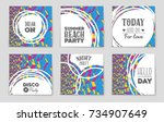 abstract vector layout... | Shutterstock .eps vector #734907649