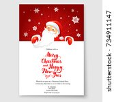 cartoon character santa claus... | Shutterstock .eps vector #734911147