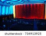 14 aug 2017   raj mandir cinema ... | Shutterstock . vector #734913925