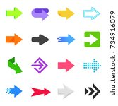 collection of arrows of... | Shutterstock .eps vector #734916079