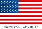 flag of united states of... | Shutterstock .eps vector #734918017
