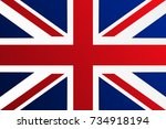 flag of united kingdom with... | Shutterstock .eps vector #734918194
