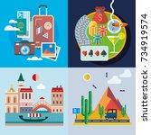 modern flat design conceptual...   Shutterstock .eps vector #734919574