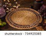 food background of gourmet... | Shutterstock . vector #734925385