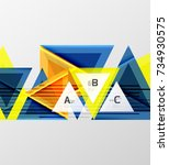 color triangles background ... | Shutterstock .eps vector #734930575