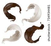 3d render  abstract milk ... | Shutterstock . vector #734934481
