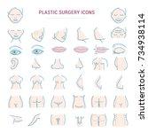 plastic surgery face correction ... | Shutterstock .eps vector #734938114