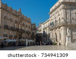 syracuse  italy   august 31 ...   Shutterstock . vector #734941309