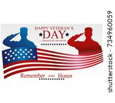 veterans day poster. us... | Shutterstock .eps vector #734960059