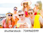party on the beach | Shutterstock . vector #734960599