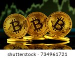 physical version of bitcoin ... | Shutterstock . vector #734961721