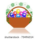 fine painted eggs designed for... | Shutterstock . vector #73496314