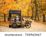 Coffee Bicycle In The Autumn...