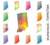 indiana geometric polygonal ... | Shutterstock .eps vector #734967064