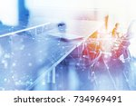 abstract business background... | Shutterstock . vector #734969491